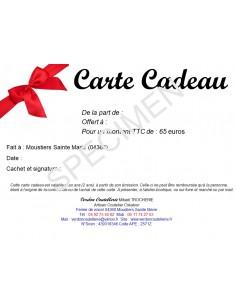 Carte cadeau de 65 euros